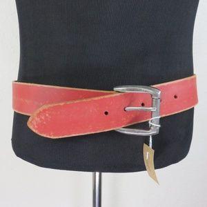 Bill Adler Design Red Leather Belt